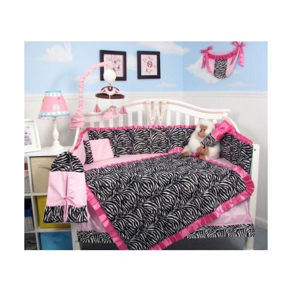 Soho Baby Crib Nursery 9 Piece Bedding Set, for Girls