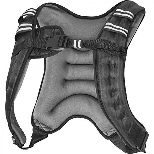 GORILLA SPORTS Gewichtsweste X-Style | Laufweste | Weight Vest | Schwarz/Grau | 5-10 KG Farbe 10 KG