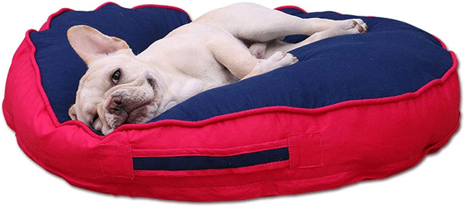 Pet Backpack Pet Supplies Sleeping Mat Cotton Nonstatic Washable Kennel  Small Medium Size (5 colors) Beds (color   bluee+Red, Size   80 cm)