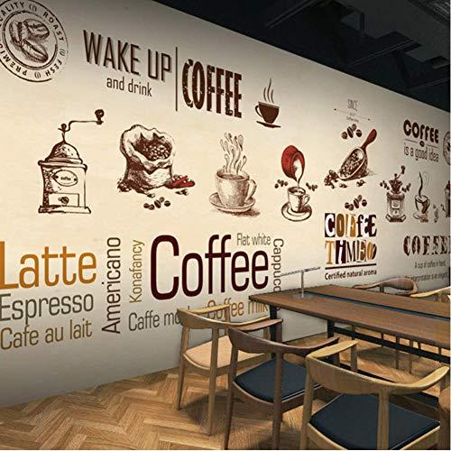MRQXDP 3D Photo Wallpaper Cafe Restaurant Tea Bakery Breakfast Shop Cartoon Minimalist Mural Leinwanddrucke