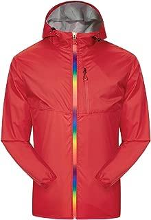 Men's Hooded Rain Jacket Women Windproof Waterproof Windbreaker