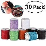 10pcs Cordón de algodón encerado encerado cadenas Abalorio joyería 10M 1mm...