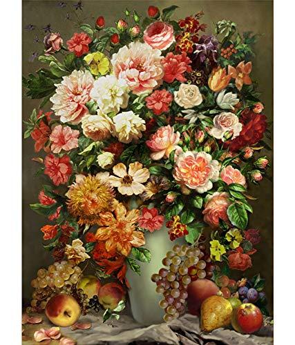 Puzzle Weltberühmte Gemälde Pfingstrosen Öl Malerei - 500/1000/1500 Stück, Multi-Color- Jedes Stück ist EIN Unikat, passt Alles zusammen Perfekt (Size : 1500pcs )