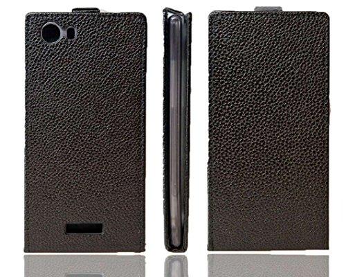 caseroxx Flip Cover für Wiko Ridge Fab 4G, Tasche (Flip Cover in schwarz)