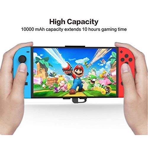 Home Care Wholesale 10000mAh Portable Charger Power Bank for Switch- Rechargeable Extended Battery Charger Case - Compact Travel Backup Battery Pack for Switch