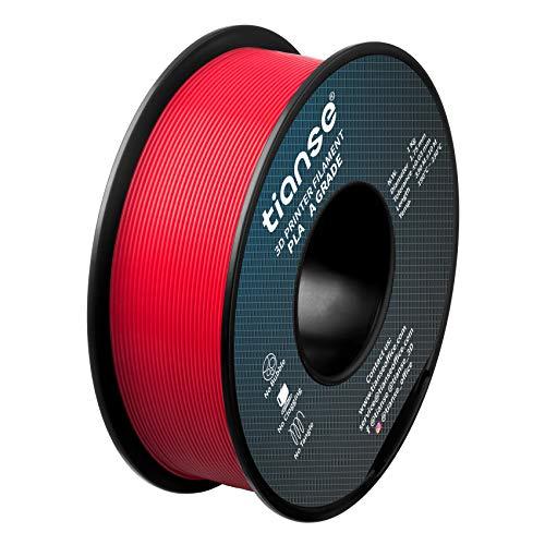 Tianse - Filamento per stampante 3D in acido polilattico, bobina da 1 kg, 1,75 mm, precisione +/- 0,03 mm