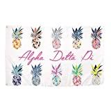Alpha Delta Pi Pop Art Pineapple Sorority Flag Greek Letter Banner 3 feet x 5 feet Sign Decor ADPi (Flag - Pineapple)