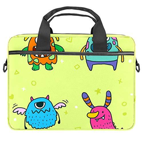 Monsters - Maletín de lona para portátil de 13,4 a 14,5 pulgadas, color amarillo
