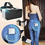 "Pocket VR Headset/Viewer for Samsung, Foldable Virtual Reality Glasses[Anti Blue Ray] for Movies Games, 3D VR Goggles Box fits for iPhone 8 7 6S 6 Plus Galaxy S8 S7 S6 S5 A7 &More 4.5-6.0"" Cellphones"