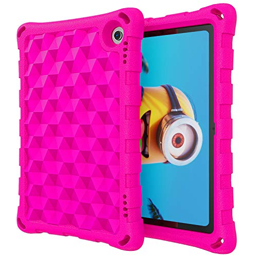 DJ&RPPQ Case for All-New Amazon Kindle Fire HD 8 Tablet and Fire HD 8 Plus Tablet (10th Generation, 2020 Release), Non-Slip/Shockproof/Ultra Light Adults & Kids Friendly Tablets Cover, Pink