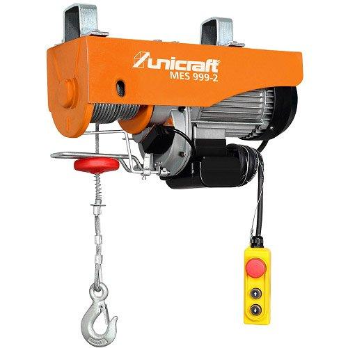 Unicraft Mini cabrestante eléctrico modelo Mes 999–2–Potencia de elevación senza-con Polea 500–999kg