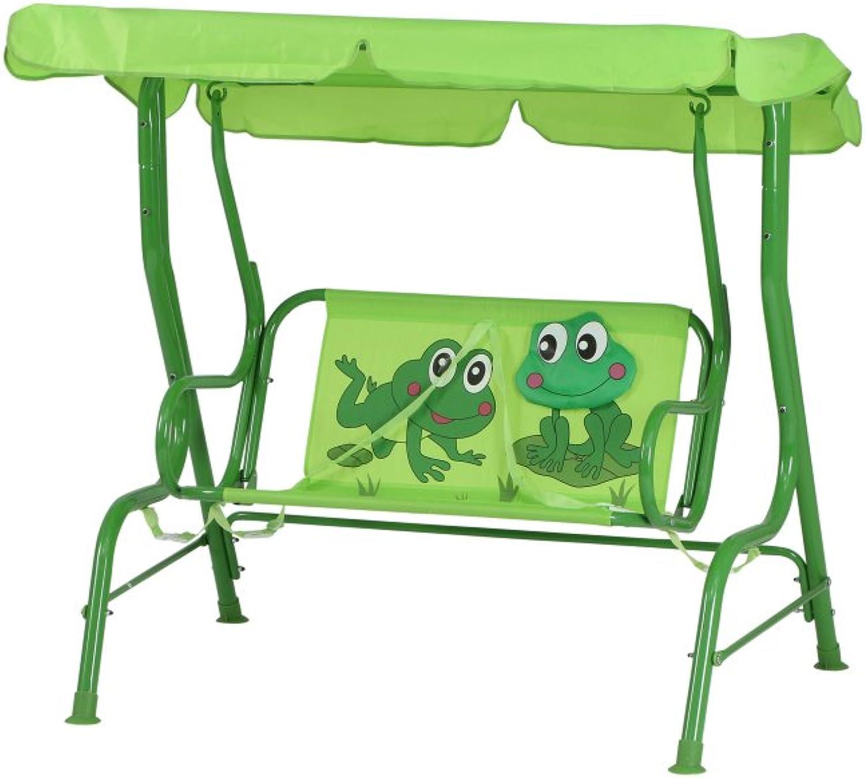 Siena Garden Kinderschaukel Froggy, 75x115x118cm, Gestell  Stahl, in grün, Flche  Polyester in grün