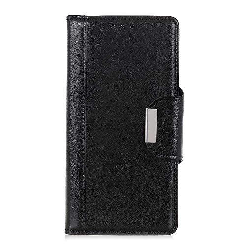 CAXPRO® Leder Hülle für Xiaomi MI 6X, Kratzfestes Tasche Xiaomi MI 6X PU Leder Flip Handyhülle Schutzhülle mit Kartenfach und Standfunktion, Schwarz