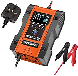 Innoo Tech Car Battery Charger 12V/24V 7-Stage Automotive Smart Battery Maintainer with 6 charging modes & LCD Display, 2-...