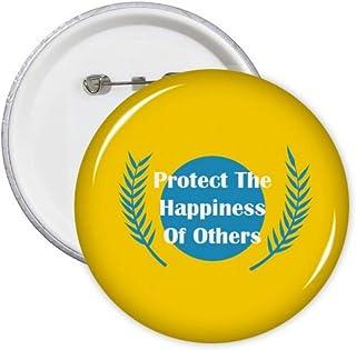 Jianjun Country Protect Happiness Pins Badge Badge Badge Emblème Accessoire Décoration 5pcs