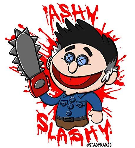 Ash vs. Decalque cinza escuro Evil Dead – para carros, laptops e muito mais! - Use por dentro ou por fora – Sicks to Any Flat Smooth Surface