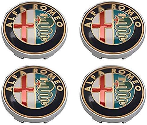 4pcs Juego De Tapas Centrales 60mm Para Alfa Romeo Mito 147 156 159 166 Giulietta Spider Stelvio Reemplazo Insignia Emblema Cubiertas Decorativas Ruedas Trim Car Styling Accessori