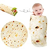 Lhedon Baby Burritos Swaddle Blanket 36 Inch for Boys and Girls,Baby Tortilla Throw Blanket for Dog/Cat,Round Flannel Newborn Receiving Blanket,Realistic Warm Soft Taco Blanket for Bed/Travel/Gift