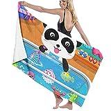 XCNGG Baby-Bus Toallas de baño de Secado rápido de Microfibra Toalla de natación para Acampar, Toalla de baño de SPA para Adultos 31x51 Pulgadas