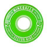 Best Wheels For Longboards - Sector 9 Nineballs Longboard Wheels 70MM 78A Green Review