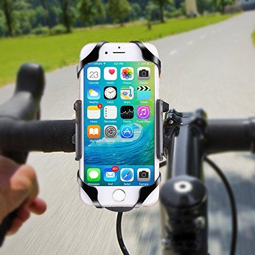 Bike Mount, patekfly Universal Fahrrad Halterung für iPhone 66S 6Plus 5S 5C 4S, Samsung Galaxy S7S6S5S4Note 345, Nexus 56P, HTC, LG, Nokia, andere Smartphones, GPS für Geräte