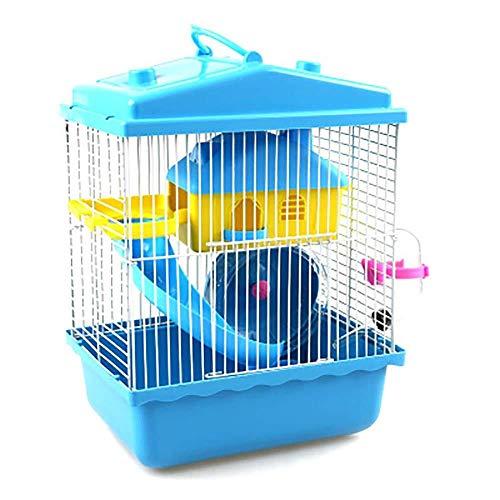 Gouwo Kleintierkäfig, Hamsterkäfig, Umweltfreundlich Material, Double-Layer Hamsterkäfig, beweglicher Käfig, komplette Innenausstattung, Geeignet for Kleintiere wie Hamster Haustiernest