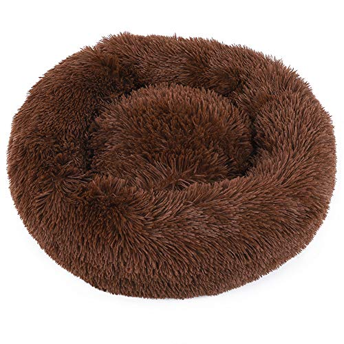 HEEPDD Pet Sleeping Bed, Round Dog Bed Cat Bed Donut Cat Puppy Pet Winter Warm Sofa Lounger Cushion