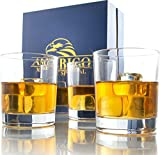 Amerigo Cristal Whisky Set De 4 En Caja De Regalo Base Pesada Vasos De Whisky 12oz - Whisky De...