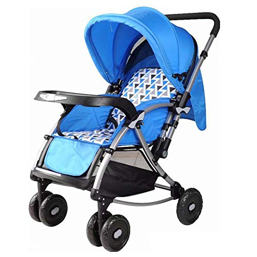 ZhiGe Kinderwagen sport Baby vierrädrige Wagen Reversible Multifunktions-Eisenrohr Kinderwagen