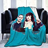 Engshi Mantas para Cama Chvrches Soft and Warm Throw Blanket Digital Printed Ultra-Soft Micro Fleece Blanket