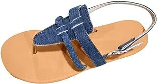 5f30de52950 Peigen Womens Fashion Flat Flip Flops Beach Shoes Open Toe Ankle Bottom  Roman Sandals