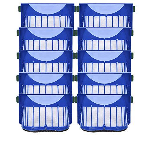 SDFIOSDOI Piezas de aspiradora 10pcs Hepa Filter Accesorey Kit Fit para Irobot Fit para Roomba 600 Series 605 606 616 620 650 655 660 625 676 680 690 Robot Aspirador