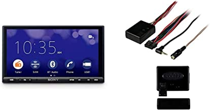 "Sony XAVAX1000 6.2"" (15.7 cm) Apple CarPlay Media Receiver with Bluetooth & Metra Axxess ASWC-1 Universal Steering Wheel Control Interface"