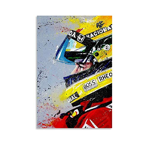 ZJKL Ayrton Senna 01 Poster (HD) Poster Decorative Painting Canvas Wall Art Living Room Posters Bedroom Painting 12x18inch(30x45cm)