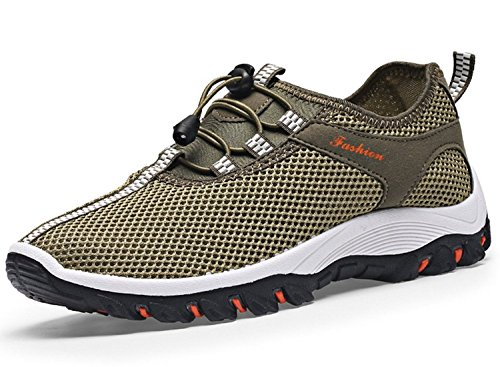 Men's Casual Outdoor Hiking Shoes Trail Running Shoes by WXDZ Size 9.5 US Army green
