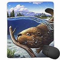 マウスパッド ゲーミング オフィス最適 かわいいビーバー 高級感 おしゃれ 防水 耐久性が良い 滑り止めゴム底 ゲーミングなど適用 マウスの精密度を上がる( 25*30*0.3cm )