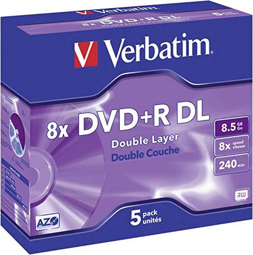 Verbatim 43541 Confezione Dvd+R, Argento