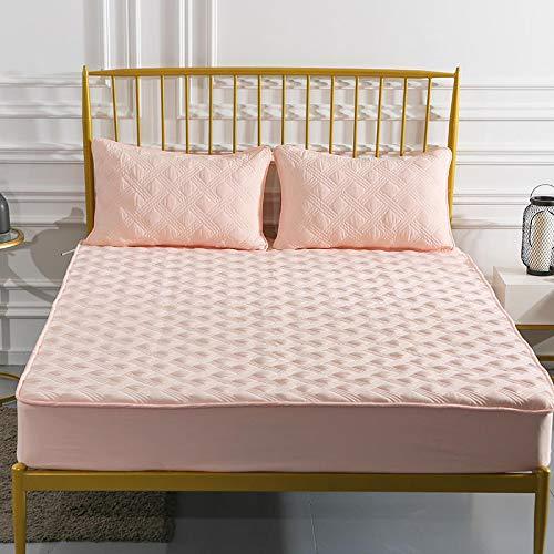 haiba Protector de colchón impermeable transpirable con correas de esquina, 150 x 190 + 15 cm