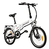 ANCHEER Folding Electric Bike Ebike, 20'' Electric Bicycle with 36V 8Ah Removable Lithium-Ion Battery, 250W Motor and Professional 7 Speed Gear