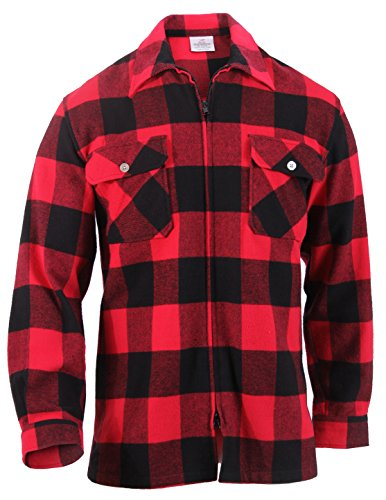 Rothco Concealed Carry Flannel Shirt, Red, L