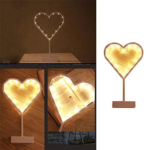Bluelover Christmas LED Frame tafel Mini Night Light Desk Lamp Bruiloftskamer Kerstdecoratie geschenken