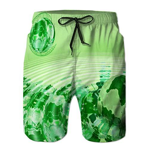 Pantalones Cortos Deportivos para Nadar Pantalones Cortos Informales de Verano para Hombres Shamrock Universe Abstract