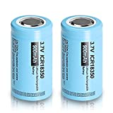 18350 3.7V 900mAh Rechargeable Li-ion Battery with Flat top Battery 2 Pack