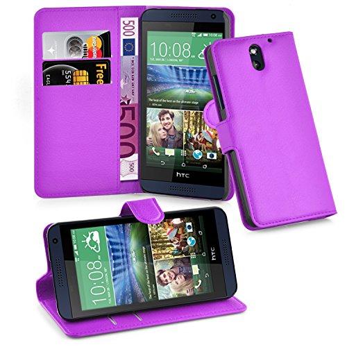 Cadorabo Hülle für HTC Desire 620 in Mangan VIOLETT - Handyhülle mit Magnetverschluss, Standfunktion & Kartenfach - Hülle Cover Schutzhülle Etui Tasche Book Klapp Style