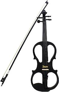 ammoon 4/4 Madera de Arce Violín Eléctrico Instrumento de Cuerdas del Violín Ébano con Accesorios para Cables Caja de Auriculares para Amantes de la Música Principiantes