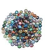 ULTNICE 200 stücke Runde Glasmosaik Fliesen Mixed Mosaik Glas Stücke für DIY Handwerk Schmuck Machen 10mm