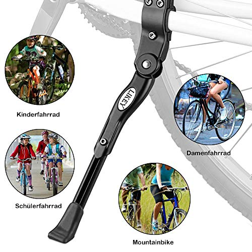 Likey Fahrradständer für 24-28 Zoll,Höhenverstellbarer Fahrradständer,Rutschfester Gummiständer, für Mountainbike, Rennrad, Fahrräder und Klapprad (Schwarz) - 2