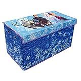 Fun House Frozen - Baúl para Juguetes Plegable con Ojales, Tela, 76 x 40 x 40 cm