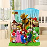 S-uper Mario Soft and Smooth Blanket,Suitable for Sofa,Sofa Bed,Office Travel,Camping Throw 40X50inch