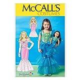 McCall 's Mädchen & Puppen Schnittmuster 7175Meerjungfrau Kostüm + gratis Minerva Crafts Craft Guide